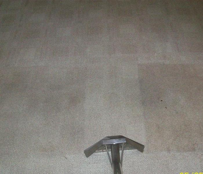 another example of soot being removed from carpeting