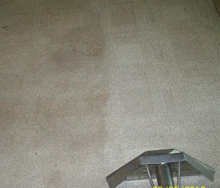soot being removed from carpeting