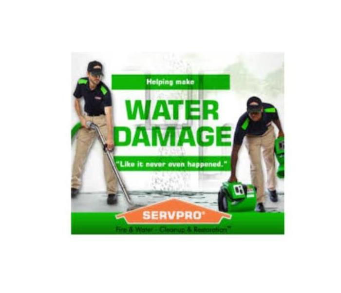 SERVPRO makes water damage like it never eve happened.